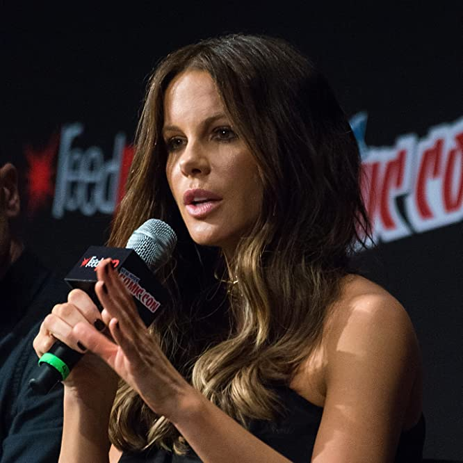 Actress Kate Beckinsale attends the Screen Gems - Resident Evil: The Final Chapter and Underworld: Blood Wars panel during 2016 New York Comic Con at The Theater at Madison Square Garden on October 7, 2016 in New York City.