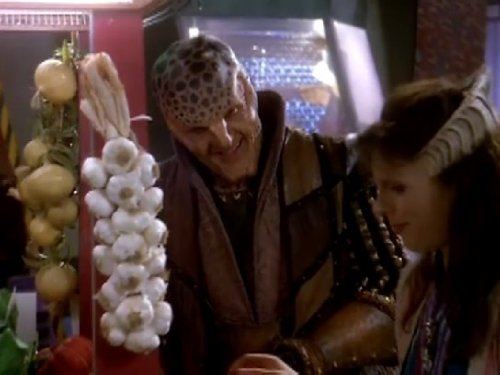 Mira Furlan and Andreas Katsulas in Babylon 5 (1993)