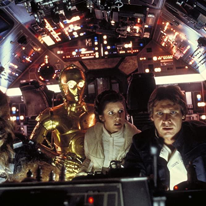 Harrison Ford, Anthony Daniels, Carrie Fisher, and Peter Mayhew in Star Wars: Episode V - The Empire Strikes Back (1980)