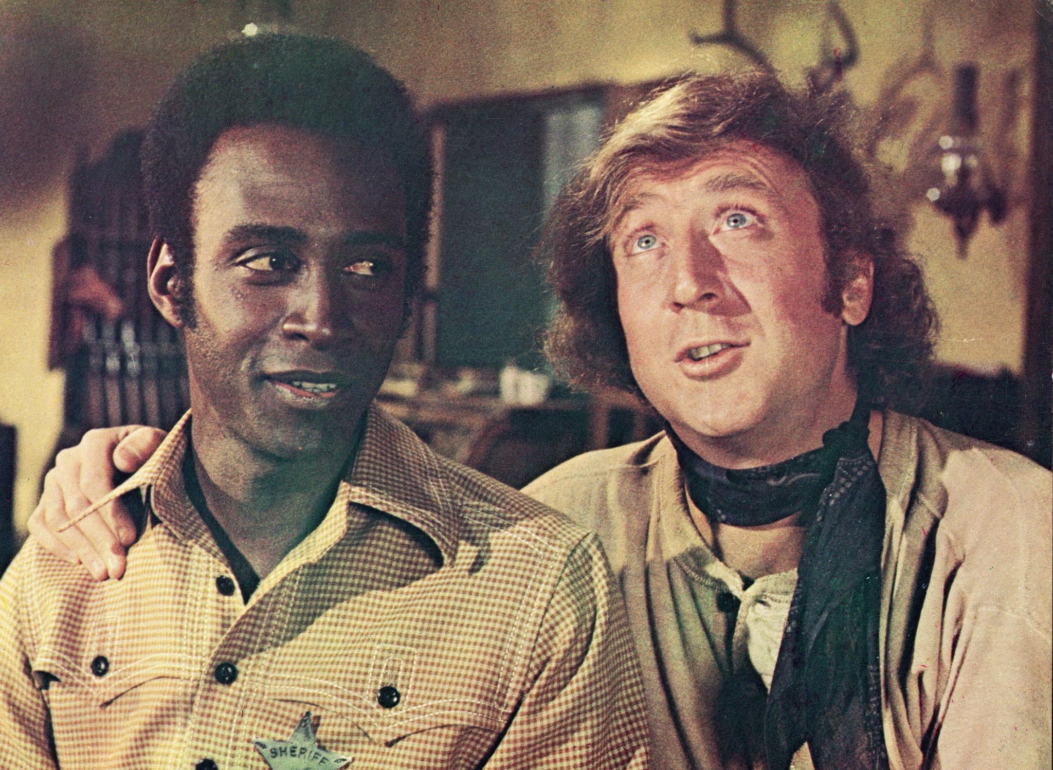 Gene Wilder and Cleavon Little in Blazing Saddles (1974)