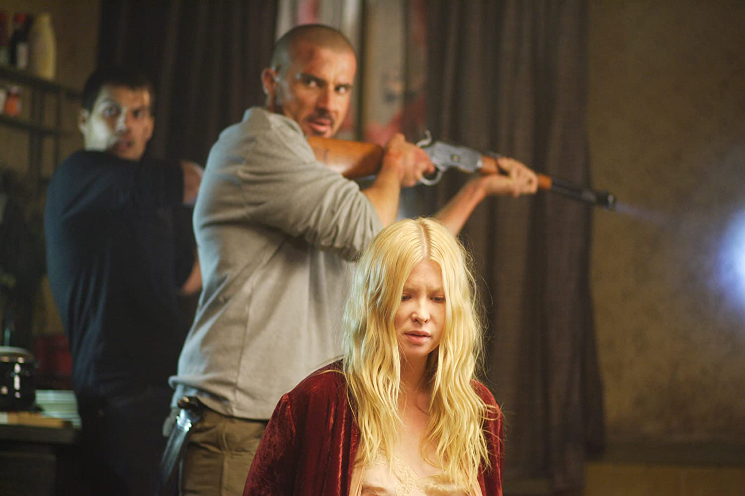 Henry Cavill, Dominic Purcell, and Emma Booth in Town Creek (2009)
