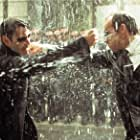 Keanu Reeves and Hugo Weaving in The Matrix Revolutions (2003)