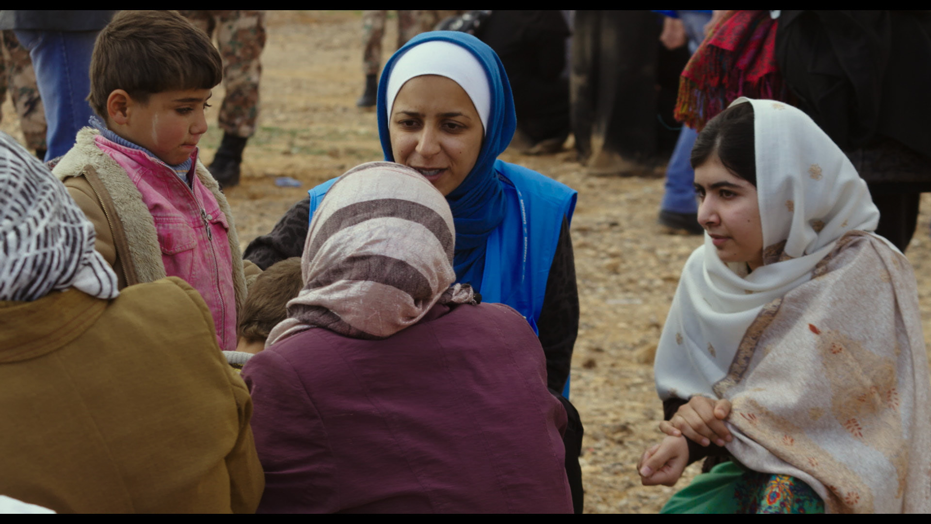 Nida Yassin and Malala Yousafzai at the Jordan/Syrian border.
