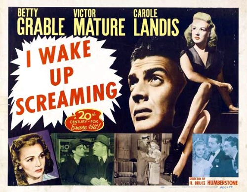 Victor Mature, Betty Grable, Laird Cregar, Allyn Joslyn, and Carole Landis in I Wake Up Screaming (1941)