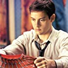 TOBEY MAGUIRE stars as Peter Parker in Columbia Pictures' action adventure SPIDER-MAN (rated PG-13 for stylized violence and action).