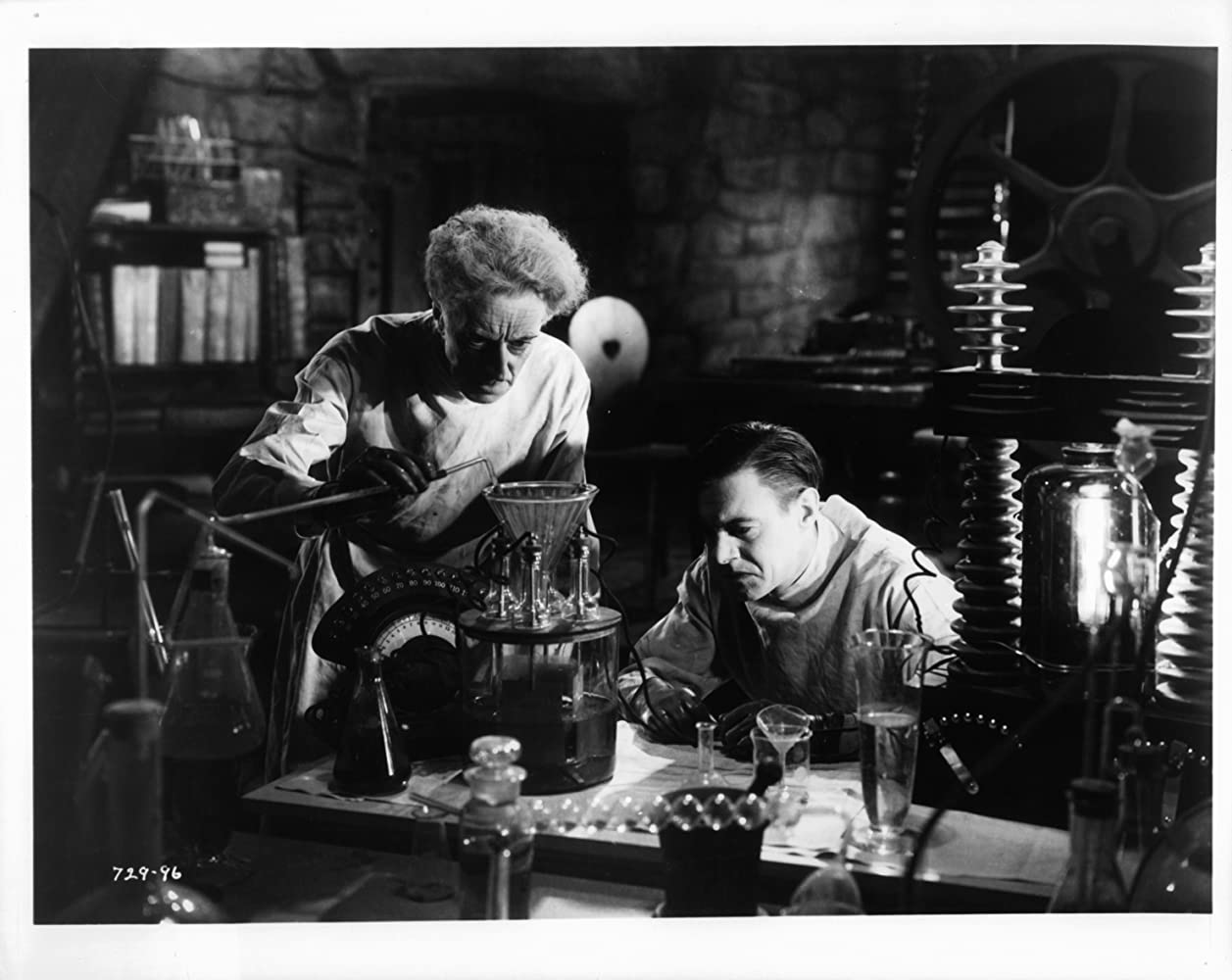 Colin Clive and Ernest Thesiger in Bride of Frankenstein (1935)