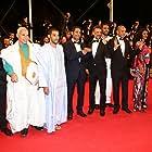 Fatoumata Diawara, Abel Jafri, Kettly Noël, Abderrahmane Sissako, Hichem Yacoubi, Toulou Kiki, Ibrahim Ahmed, Adel Mahmoud Cherif, and Weli Kleïb at an event for Timbuktu (2014)