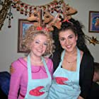 """Melissa Joan Hart & Layla Alizada on the set of """"Holiday in Handcuffs"""""""