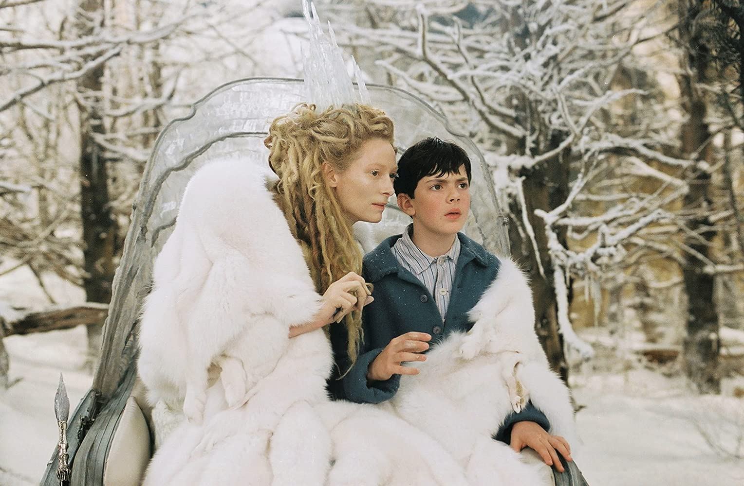 Tilda Swinton and Skandar Keynes in The Chronicles of Narnia: The Lion, the Witch and the Wardrobe (2005)