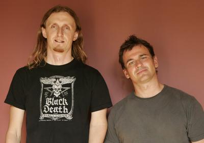 Sam Dunn and Scot McFadyen at an event for Metal: A Headbanger's Journey (2005)