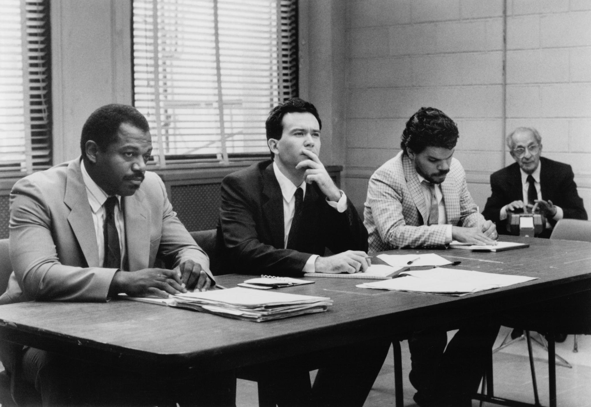 Timothy Hutton, Charles S. Dutton, and Luis Guzmán in Q & A (1990)