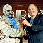 """Tom Rees (Mummy) with Budd Friedman at the Improv in """"Cry Of the Mummy"""", a segment in """"The Boneyard Collection"""""""