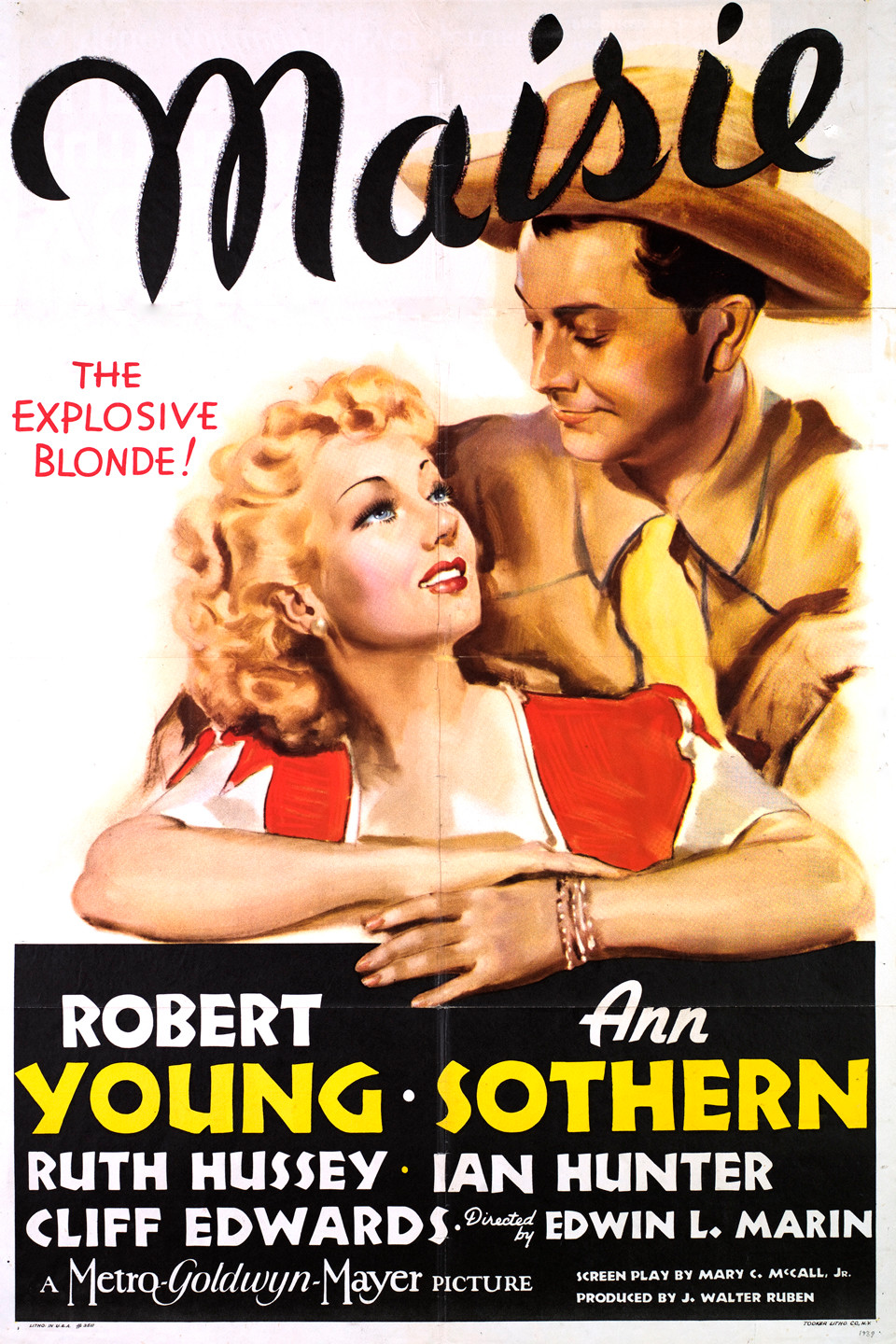 Robert Young and Ann Sothern in Maisie (1939)