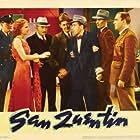 Humphrey Bogart, Pat O'Brien, John Webb Dillion, Edward Keane, and Ann Sheridan in San Quentin (1937)