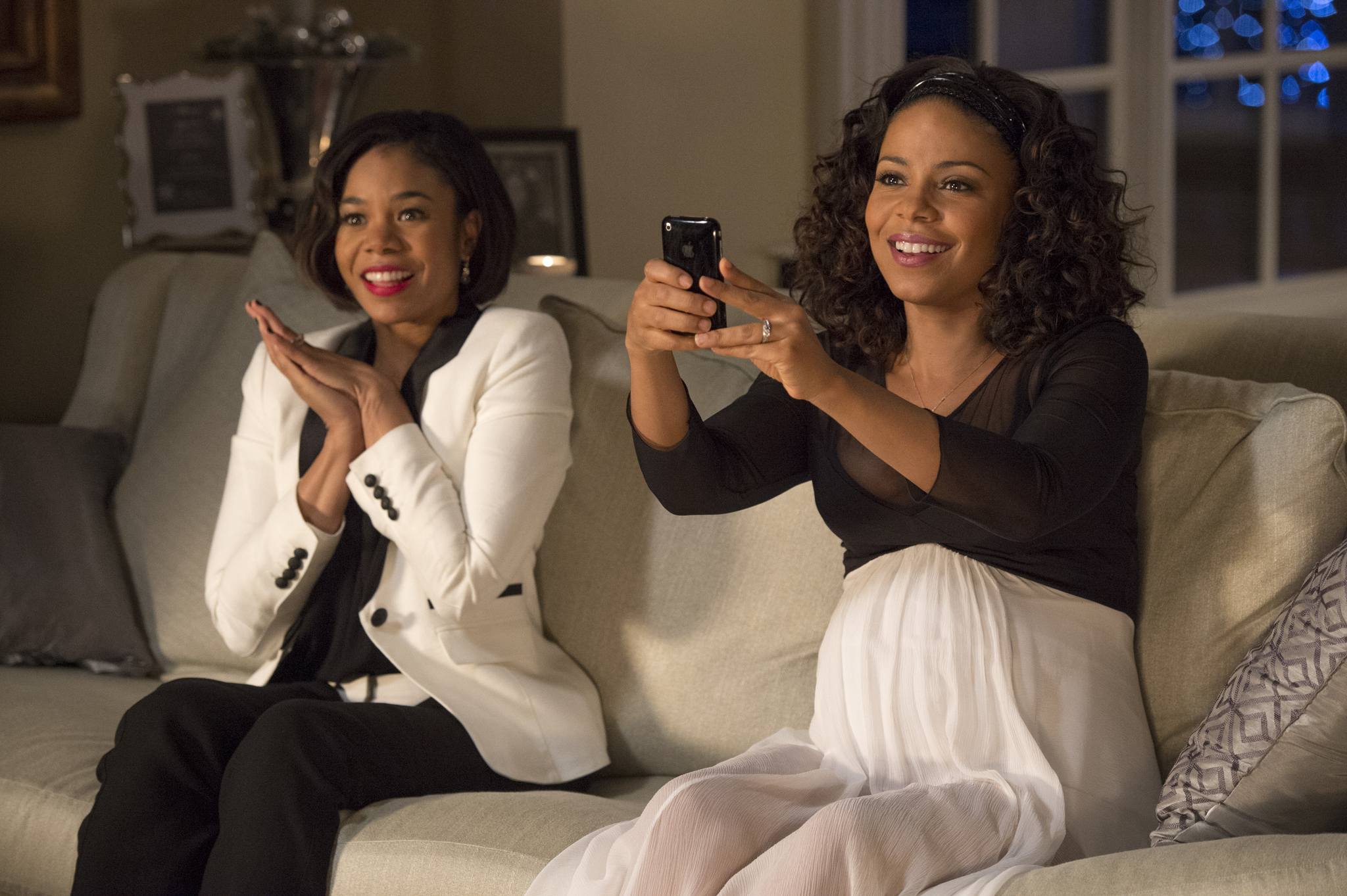 Sanaa Lathan and Regina Hall in The Best Man Holiday (2013)
