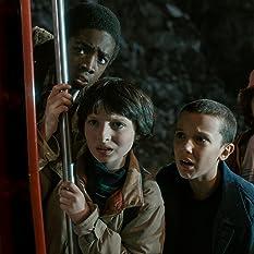 Caleb McLaughlin, Millie Bobby Brown, Finn Wolfhard, and Gaten Matarazzo in Stranger Things (2016)