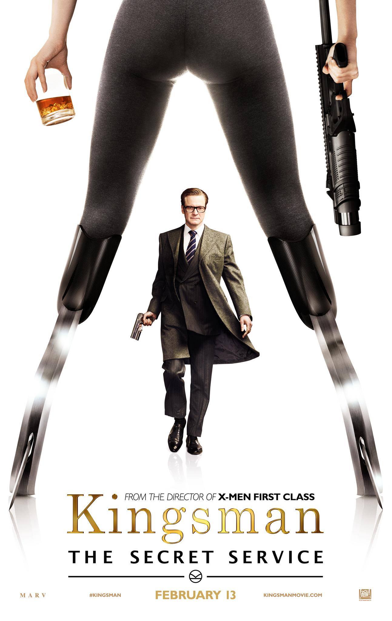 Colin Firth and Sofia Boutella in Kingsman: The Secret Service (2014)