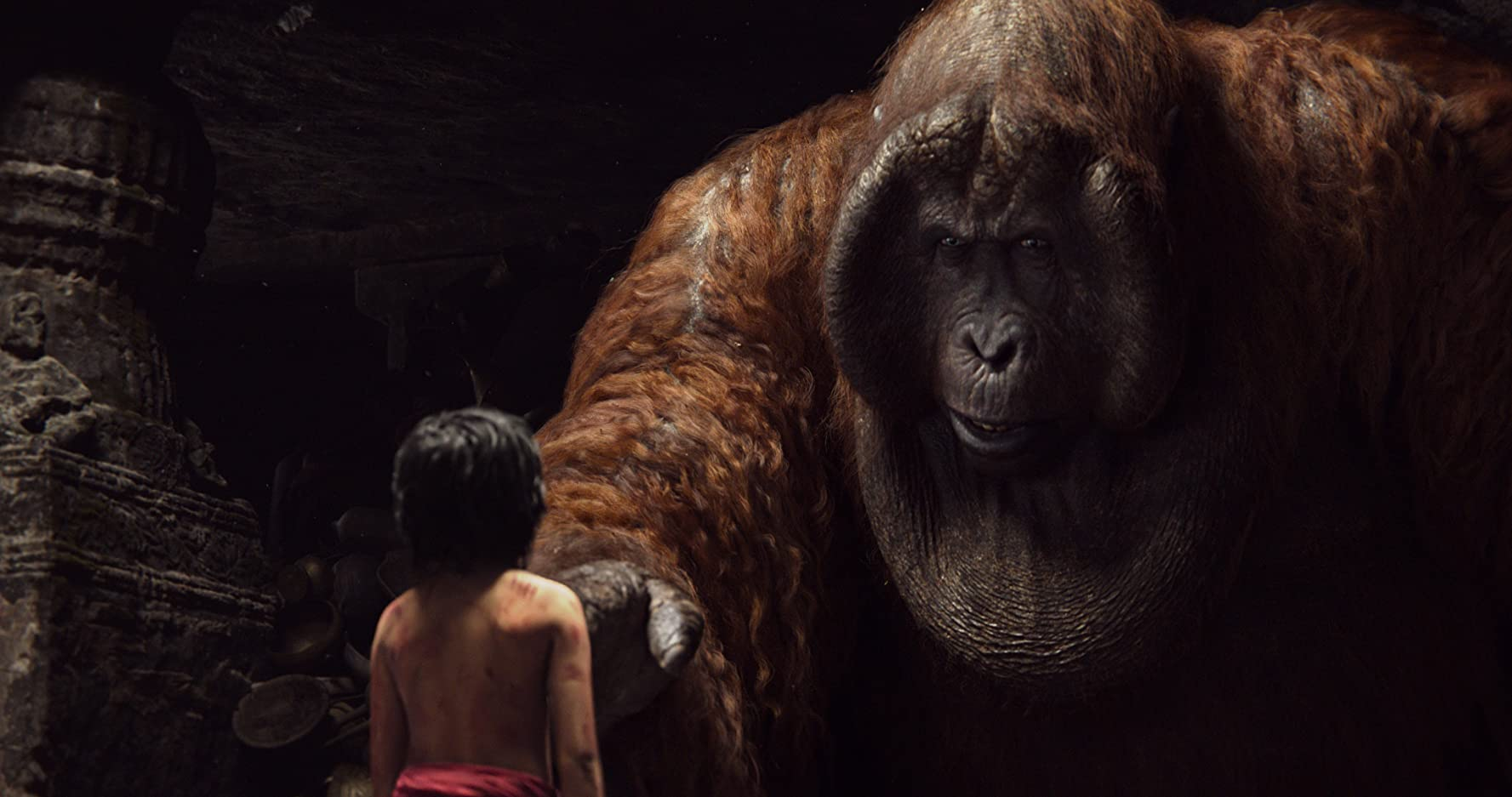 Christopher Walken and Neel Sethi in The Jungle Book (2016)