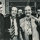 From left to right: Nick Pellegrino; Jack Lemmon; Martin Fiscoe; Wilford Brimley; Ron Lombard celebrating Jack Lemmon's birthday on THE CHINA SYDROME set.