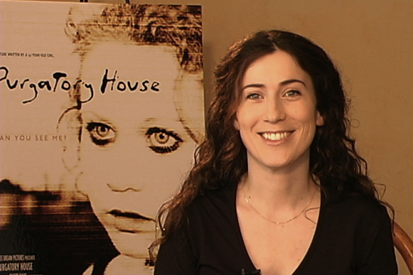 """Photo date: 9 March 2005 Cindy Baer is interviewed for """"The Making of Purgatory House""""."""