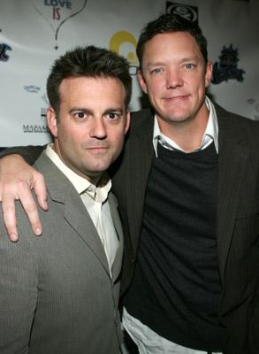 Matthew Lillard and John J. Hermansen at an event for What Love Is (2007)