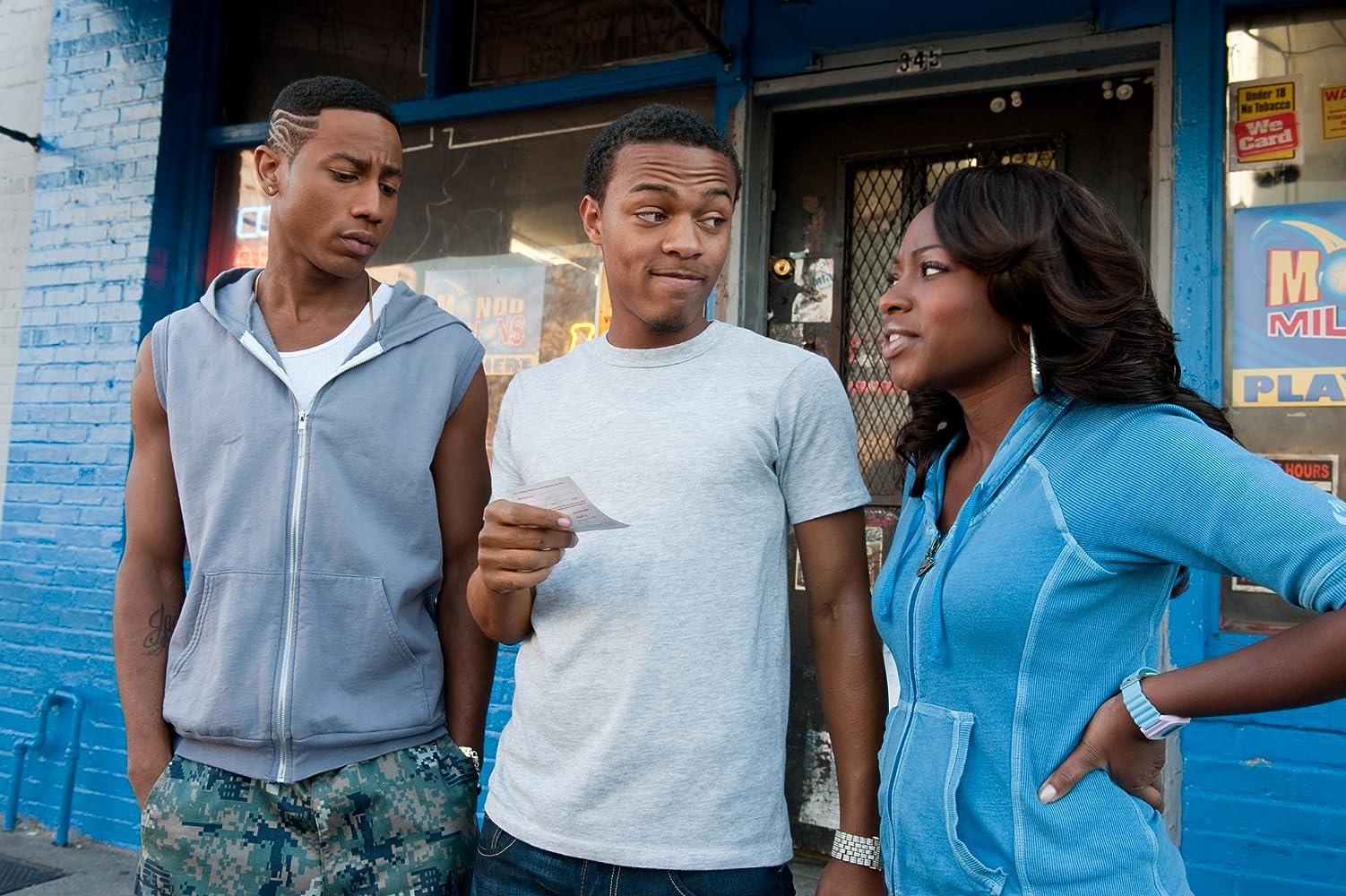 Shad Moss, Brandon T. Jackson, and Naturi Naughton in Lottery Ticket (2010)