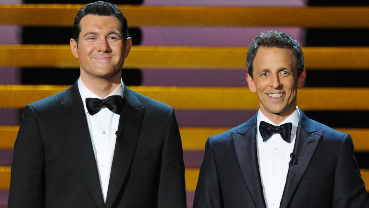 Seth Meyers and Billy Eichner at an event for The 66th Primetime Emmy Awards (2014)