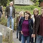 Charlotte Rampling, Joe Sims, William Andrews, Jodie Whittaker, Andrew Buchan, and Charlotte Beaumont in Broadchurch (2013)