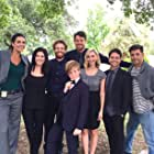 """Morgan Matthews on set of Rizzoli & Isles with """"The Henderson Family"""" with Angie Harmon and Jordan Bridges (June 15, 2016)"""
