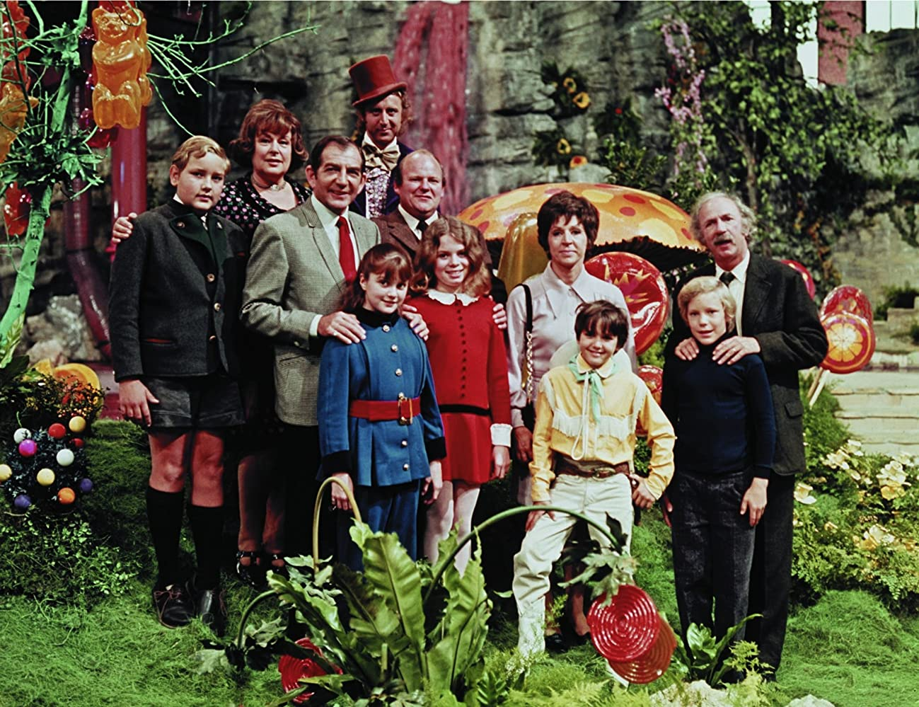 Gene Wilder Paris Themmen Jack Albertson Michael Bollner Julie Dawn Cole Nora Denney Roy Kinnear Denise Nickerson Peter Ostrum Ursula Reit and Leonard Stone in Willy Wonka  the Chocolate Factory 1971