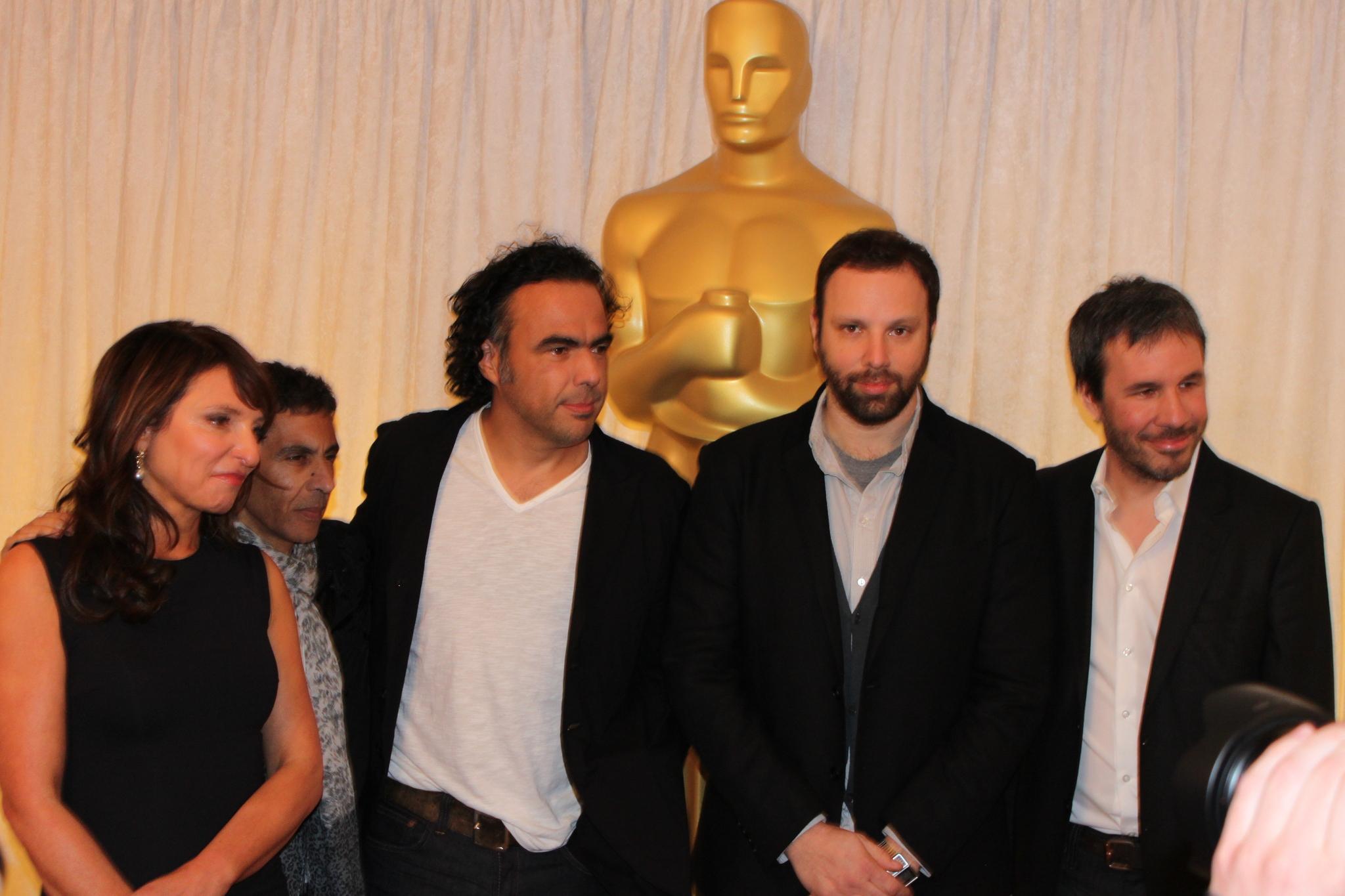 Susanne Bier, Rachid Bouchareb, Alejandro G. Iñárritu, Yorgos Lanthimos, and Denis Villeneuve