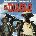 Anthony Edwards and Louis Gossett Jr. in El Diablo (1990)