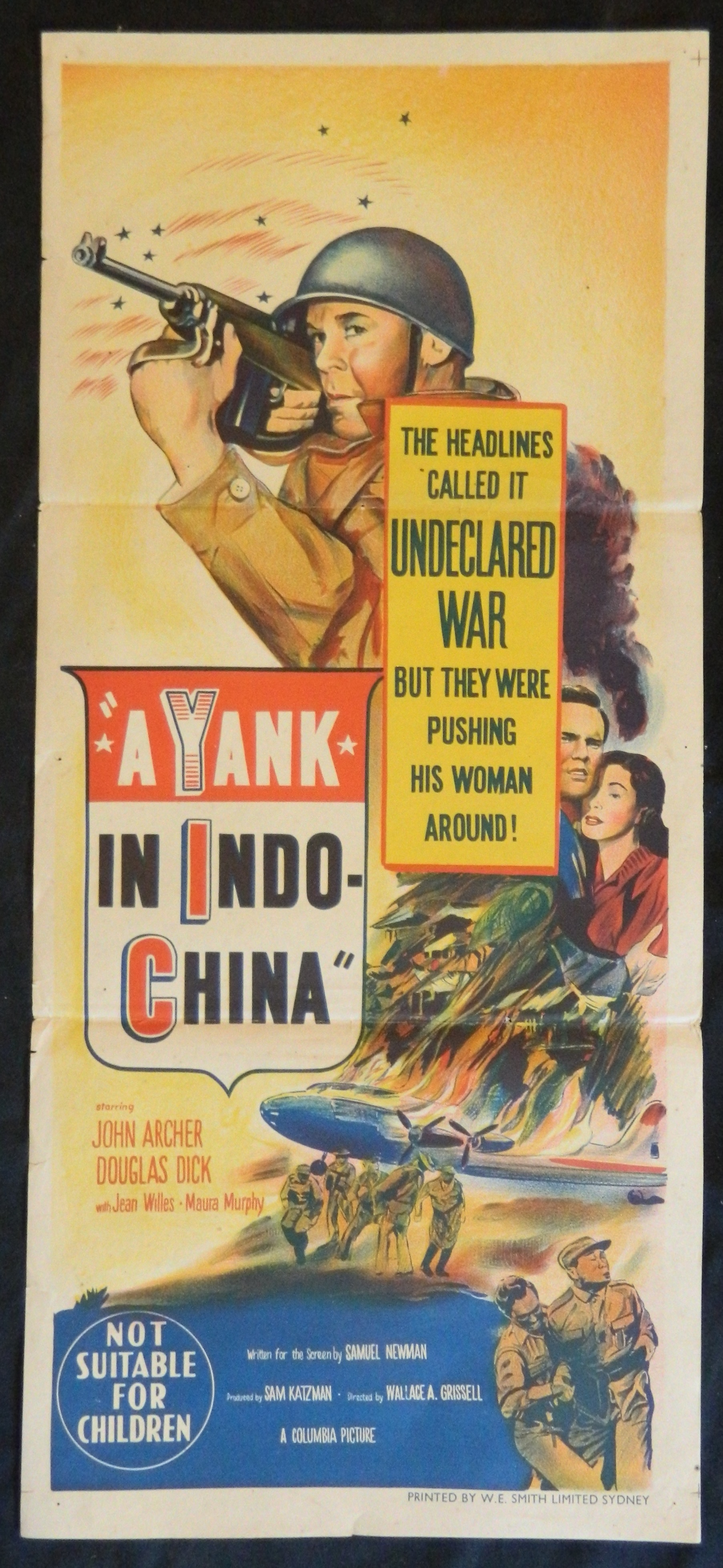 John Archer, Douglas Dick, and Jean Willes in A Yank in Indo-China (1952)