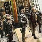 Hugh Bonneville, Tommie Earl Jenkins, Daniel Hoffmann-Gill, Martin Collins, and Adam Loxley in Galavant (2015)