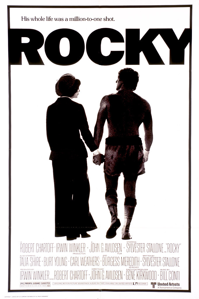Sylvester Stallone, Talia Shire, Carl Weathers, and Burt Young in Rocky (1976)