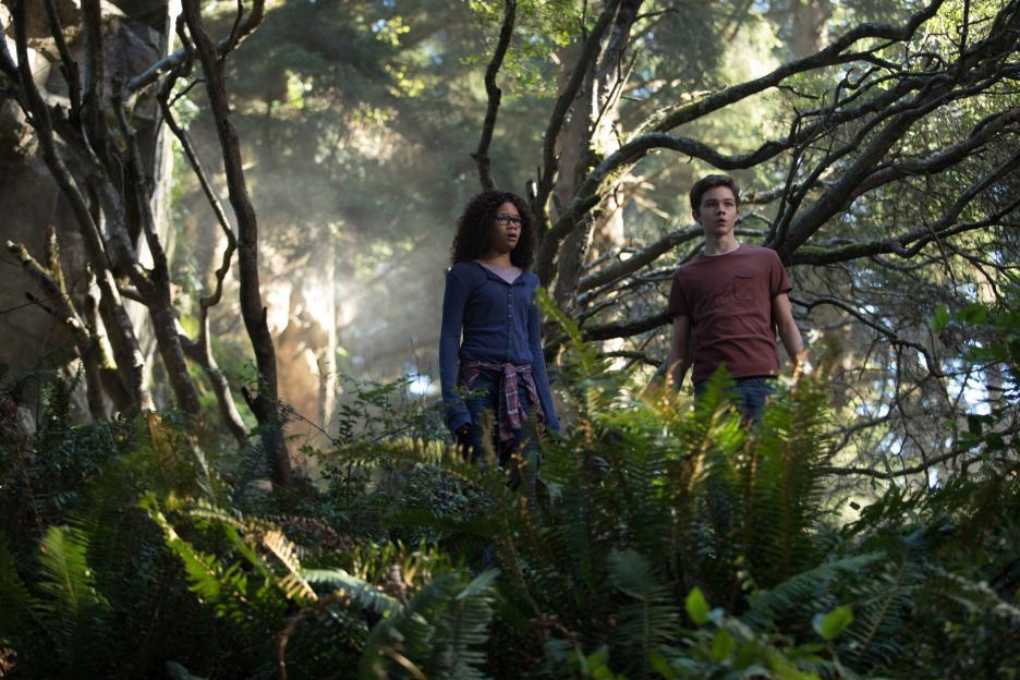 Storm Reid and Levi Miller in A Wrinkle in Time (2018)