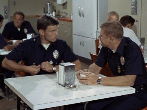 Kent McCord and Martin Milner in Adam-12 (1968)