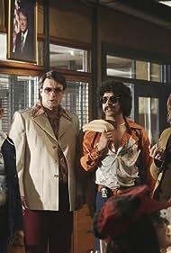 Jon Huertas, Seamus Dever, Nathan Fillion, Jon Polito, and Stana Katic in Castle (2009)