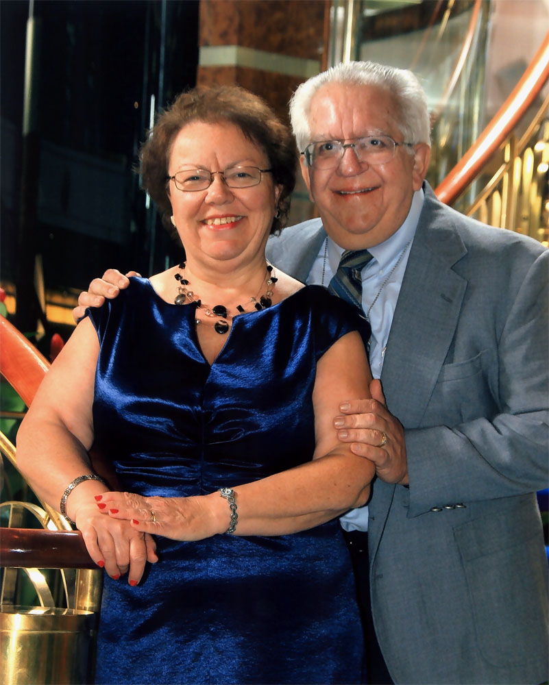 Lance and his wife, Dianne, taken February 28, 2011 on the cruise ship Norwegian Sun.