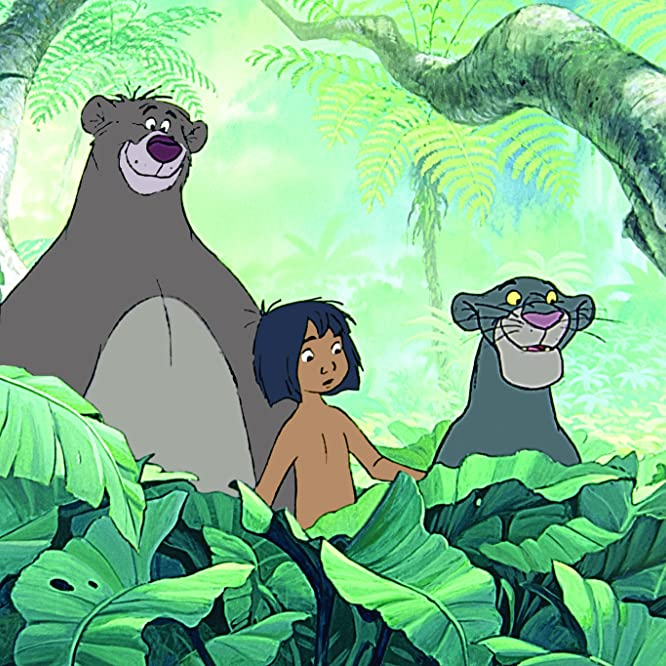 Sebastian Cabot, Phil Harris, and Bruce Reitherman in The Jungle Book (1967)