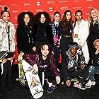 Crystal Moselle, Jaden Smith, Rachelle Vinberg, Nina Moran, Dede Lovelace, Ajani Russell, Brenn Lorenzo, and Kabrina Adams at an event for Skate Kitchen (2018)
