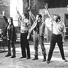 Robert Carlyle, Mark Addy, Paul Barber, Steve Huison, Wim Snape, Hugo Speer, and Tom Wilkinson in The Full Monty (1997)