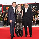 Ethan Hawke, Paul Schrader, and Amanda Seyfried at an event for First Reformed (2017)