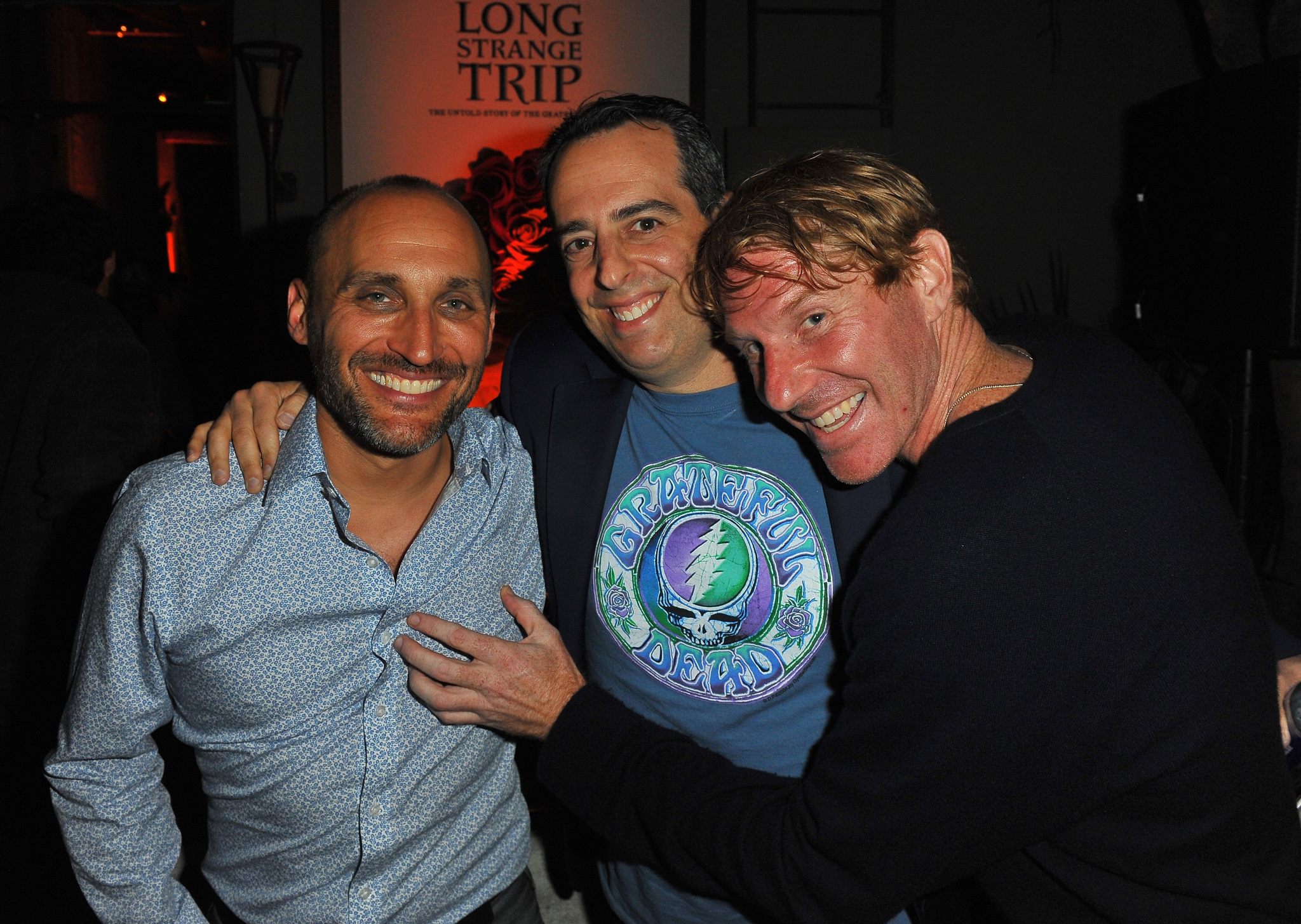 Amir Bar-Lev, Eric Eisner, and Andy Heller at an event for Long Strange Trip (2017)