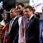 Abel Jafri, Kettly Noël, Abderrahmane Sissako, Hichem Yacoubi, Toulou Kiki, and Ibrahim Ahmed at an event for Timbuktu (2014)