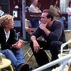 Nick and Meg on the set