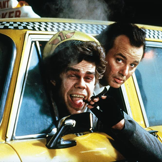 Bill Murray and David Johansen in Scrooged (1988)