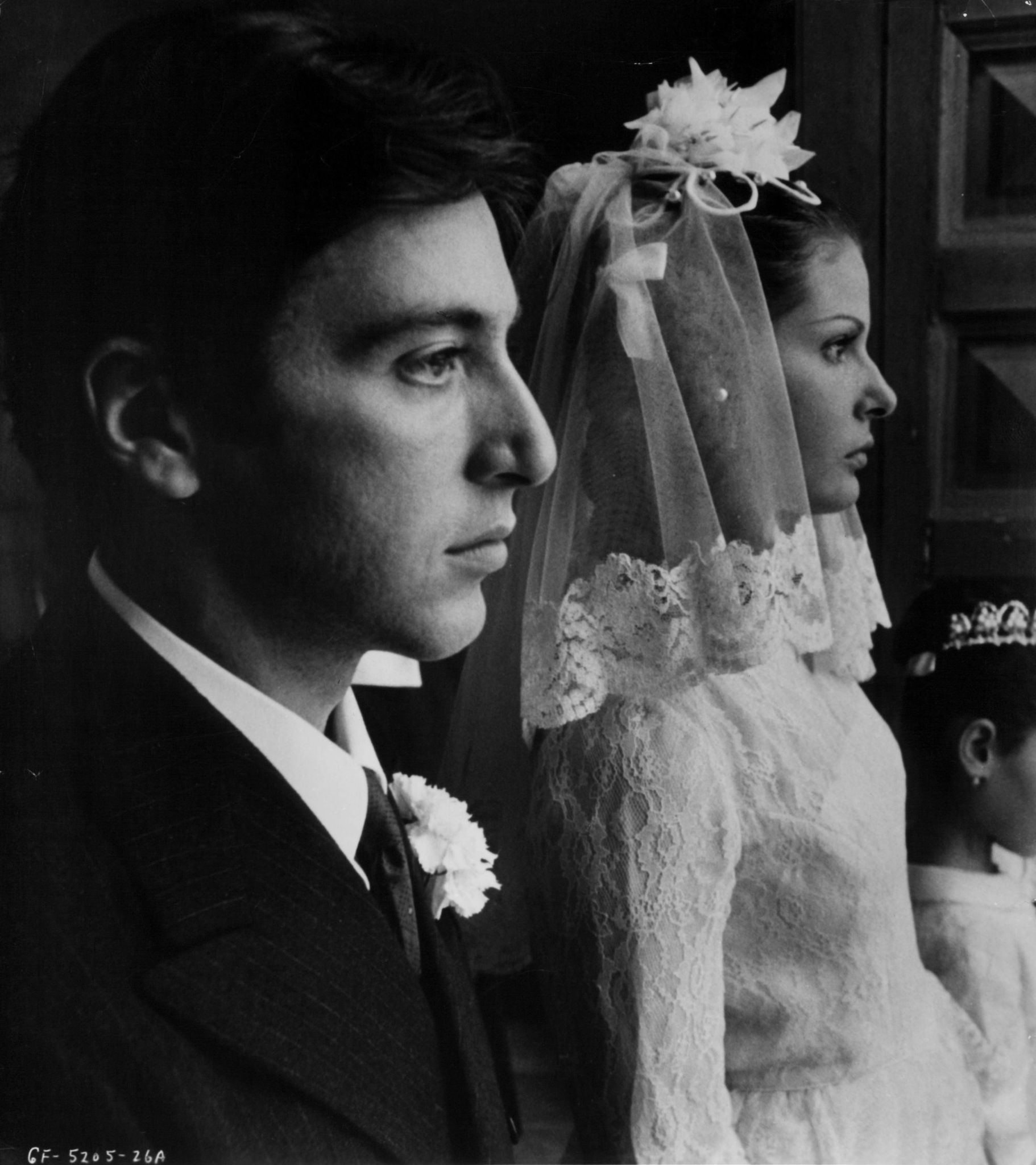 Al Pacino and Simonetta Stefanelli in The Godfather (1972)