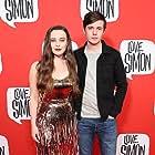 Nick Robinson and Katherine Langford at an event for Love, Simon (2018)