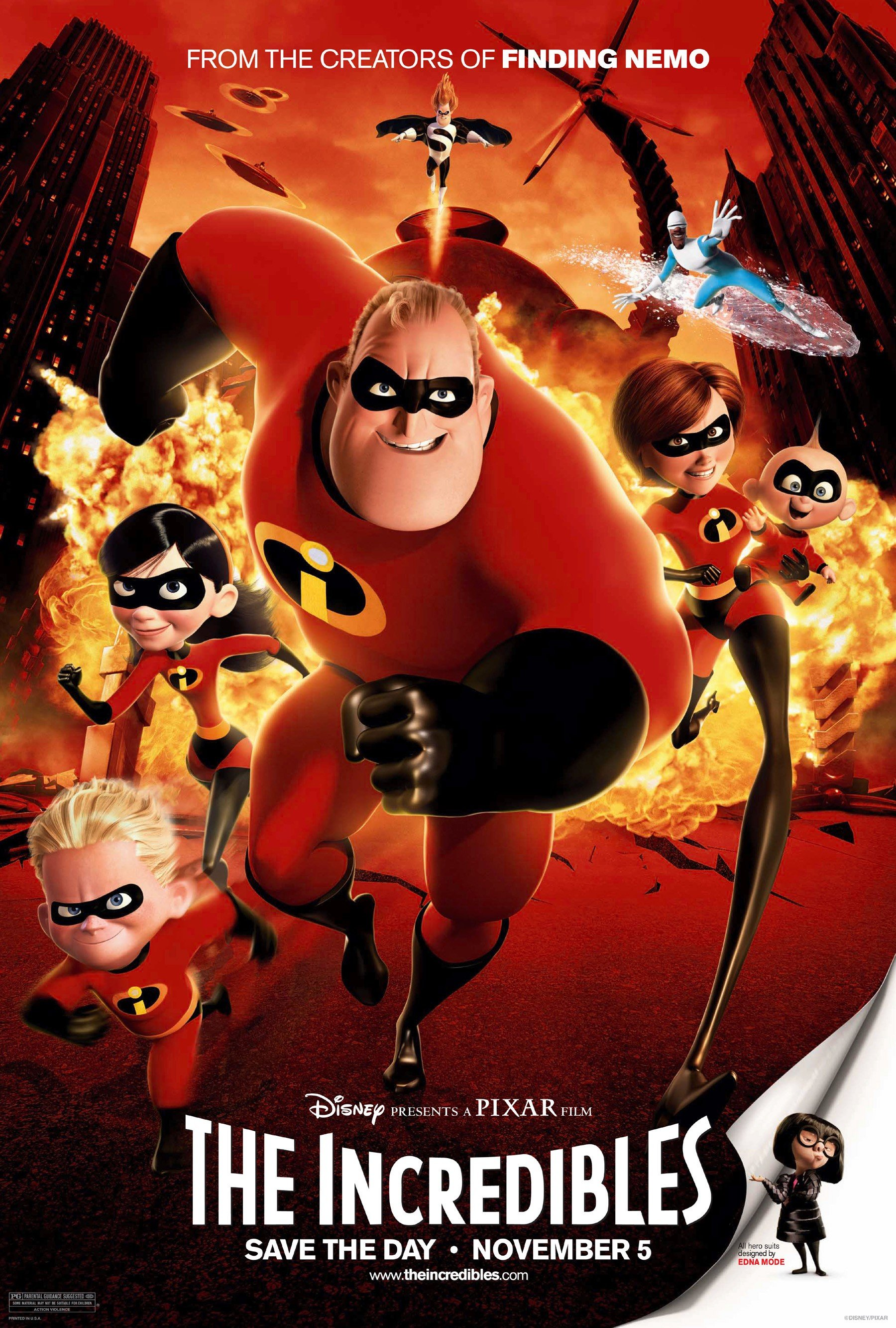 The Incredibles 2004 Dual Audio Hindi 450MB BluRay ESub Download